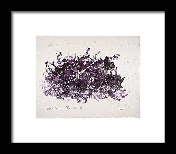Abstract Framed Print featuring the painting La Solitude by Dominique Boutaud