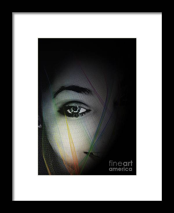 Arte Framed Print featuring the digital art La Sombra by Sonia Morera