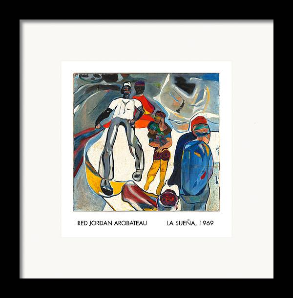Dreamer Framed Print featuring the painting La Suena by Red Jordan Arobateau