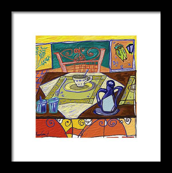 Still Life Framed Print featuring the painting La Taula by Xavier Ferrer