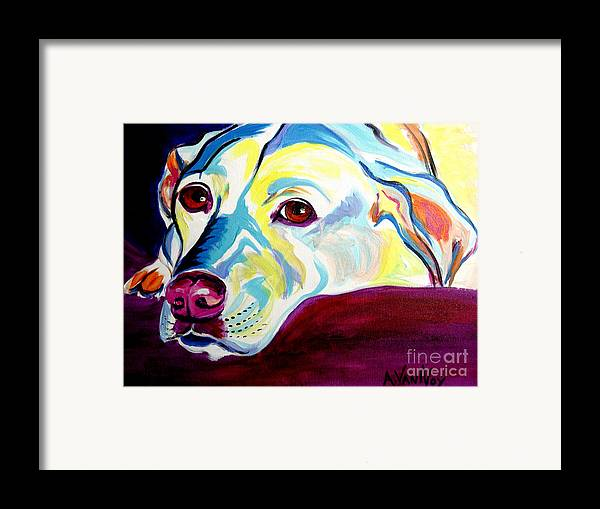 Dog Framed Print featuring the painting Lab - Luna by Alicia VanNoy Call