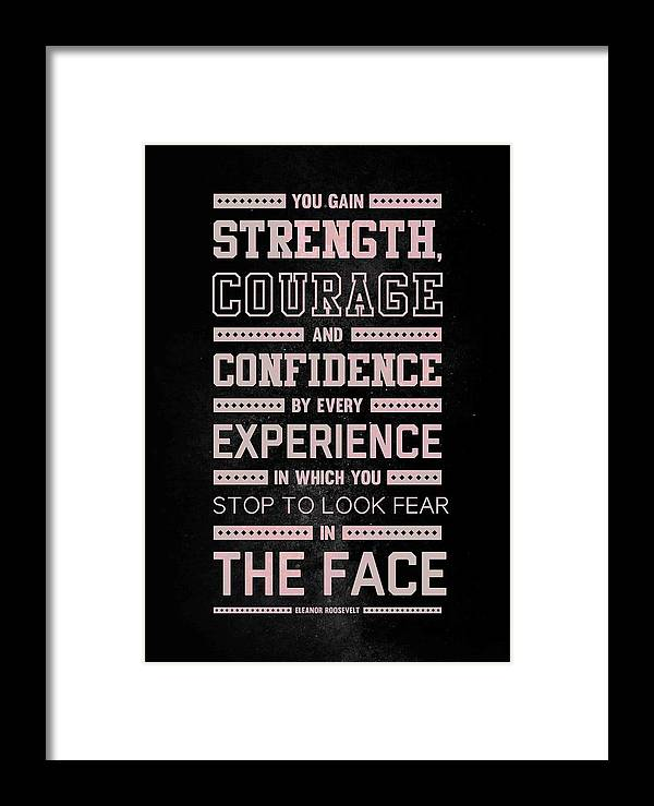 Lab N 4 Strength Does Not Come Arnold Schwarzenegger Motivational Quote Framed Print