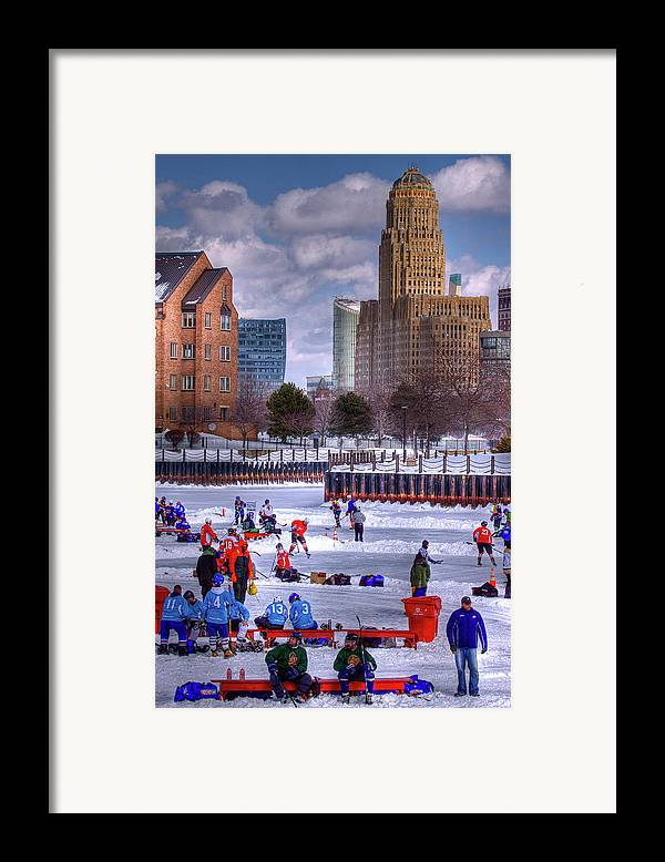 Buffalo Framed Print featuring the photograph Labatt Pond Hockey 2011 by Don Nieman