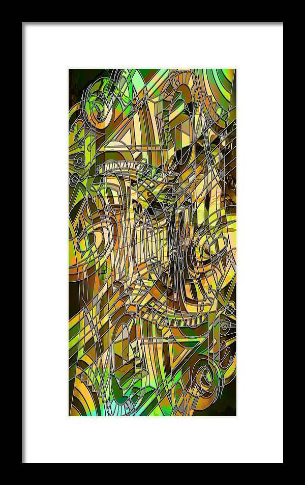 Labirinto2 Framed Print featuring the digital art Labirinto2 by Ricardo Vieira
