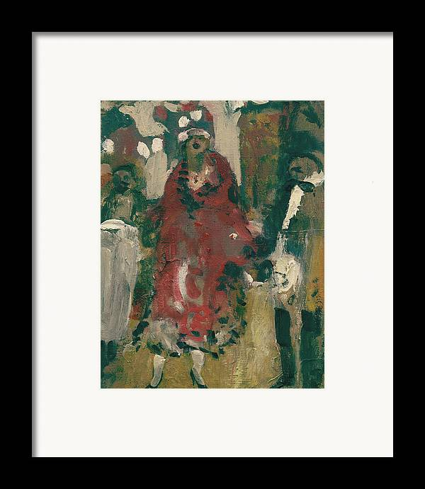 Figure Framed Print featuring the painting Laboheme Act 2 Cafescene by Bill Collins