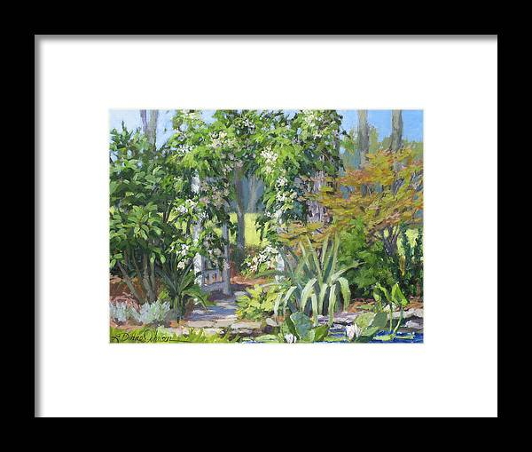 Lush Garden Arbor Framed Print featuring the painting Labor Of Love by L Diane Johnson