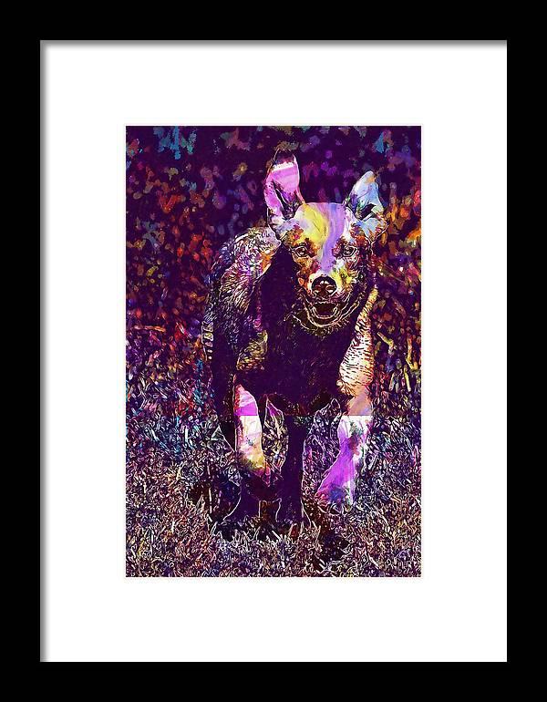 Labrador Framed Print featuring the digital art Labrador Puppy Retriever Dog Young by PixBreak Art