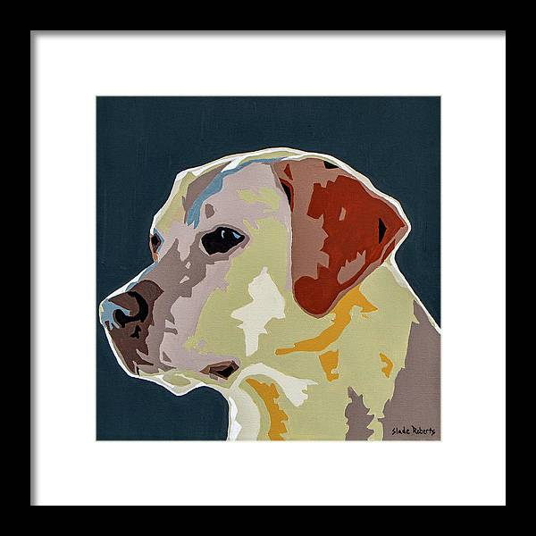 Labrador Framed Print featuring the painting Labrador by Slade Roberts