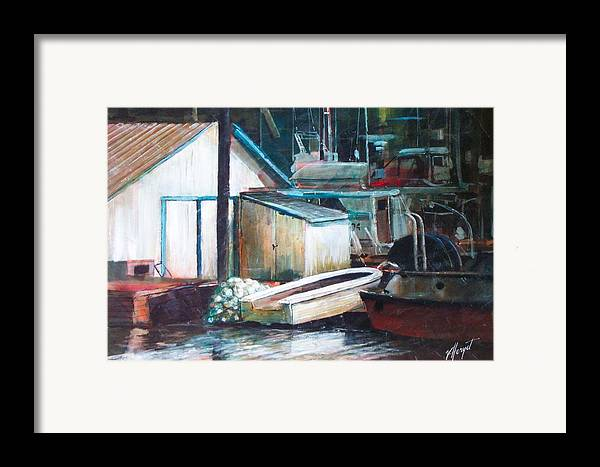 Harbour Framed Print featuring the painting Ladner Harbour by Victoria Heryet