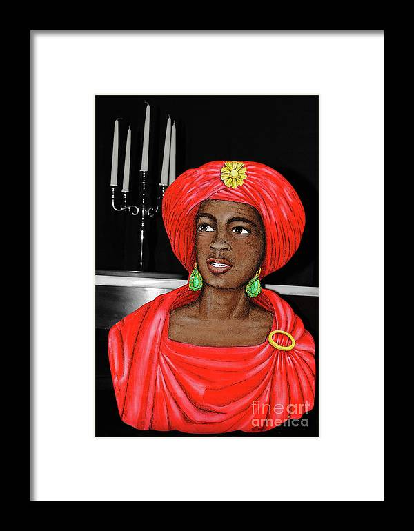Candelabra Framed Print featuring the photograph Lady At The Candelabra by Jost Houk