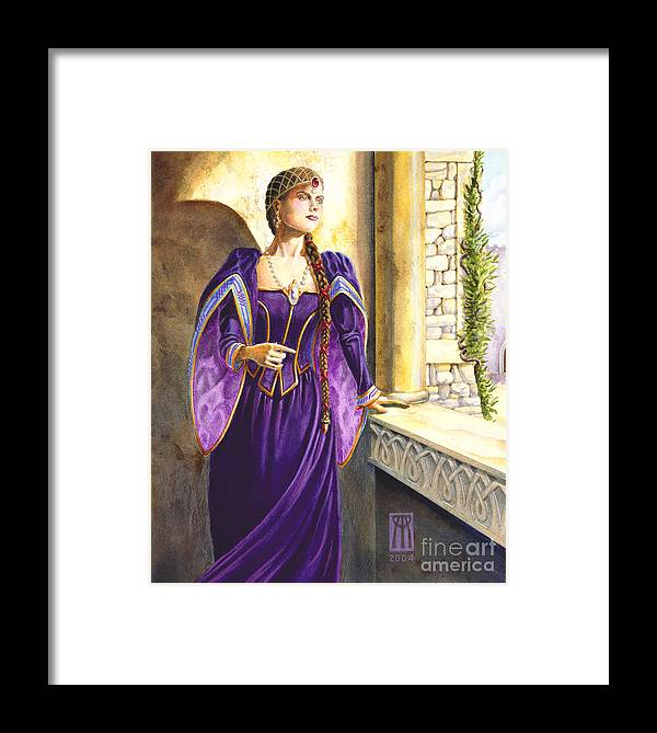 Camelot Framed Print featuring the painting Lady Ettard by Melissa A Benson