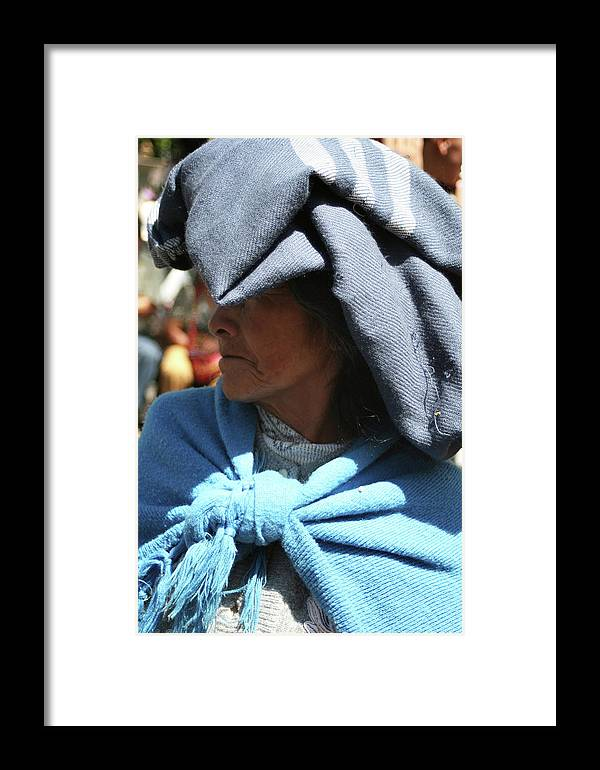 Woman Framed Print featuring the photograph Lady In Blue by Alisha Robertson