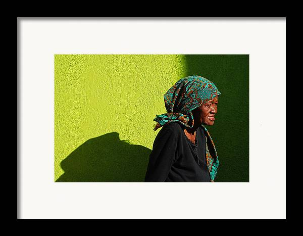 Africa Framed Print featuring the photograph Lady In Green by Skip Hunt