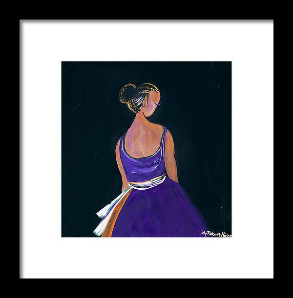 Ballerina Framed Print featuring the painting Lady In Purple by Robert Lee Hicks