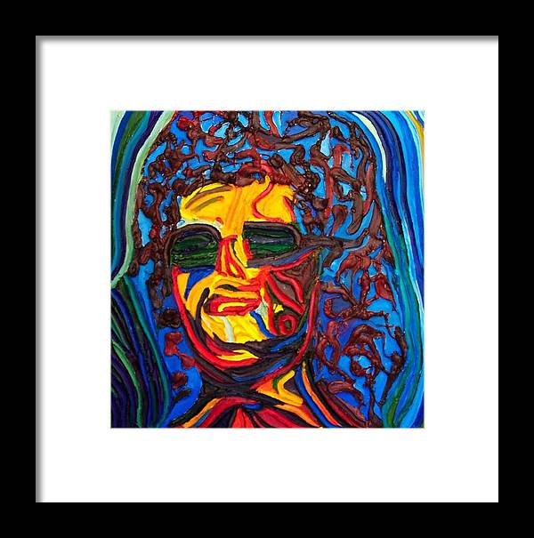 Framed Print featuring the painting Lady In Sunglasses by Ira Stark