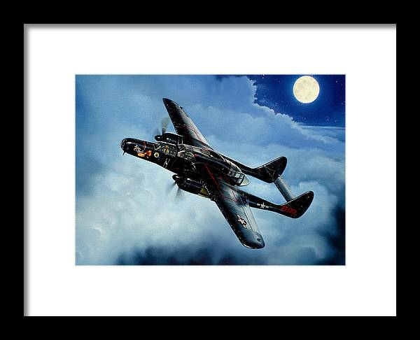 Military Framed Print featuring the painting Lady In The Dark by Marc Stewart