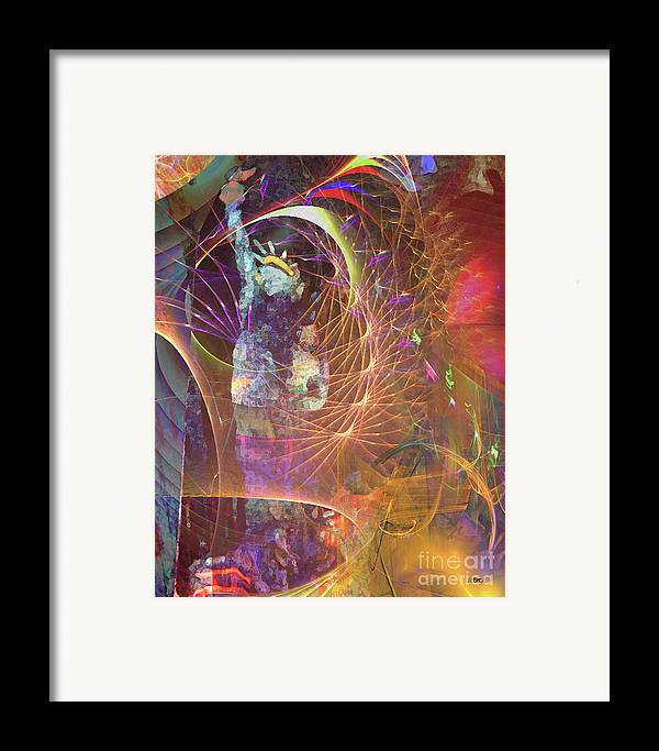Lady Liberty Framed Print featuring the digital art Lady Liberty by John Beck