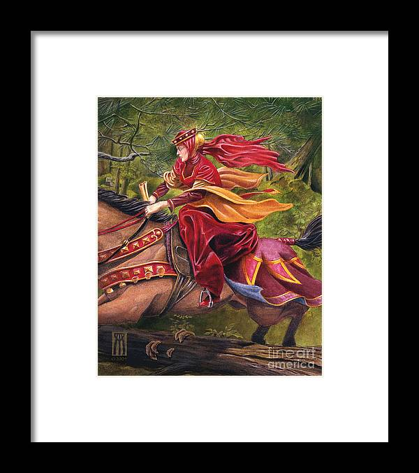 Camelot Framed Print featuring the painting Lady Lunete by Melissa A Benson