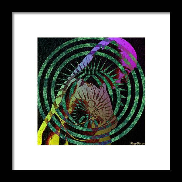 Nude Framed Print featuring the digital art Lady Purple by FntsMn Oso Bear