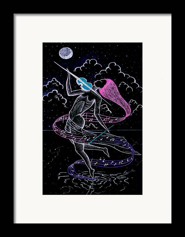 lady under the silver moon framed print by dwayne hamilton. Black Bedroom Furniture Sets. Home Design Ideas