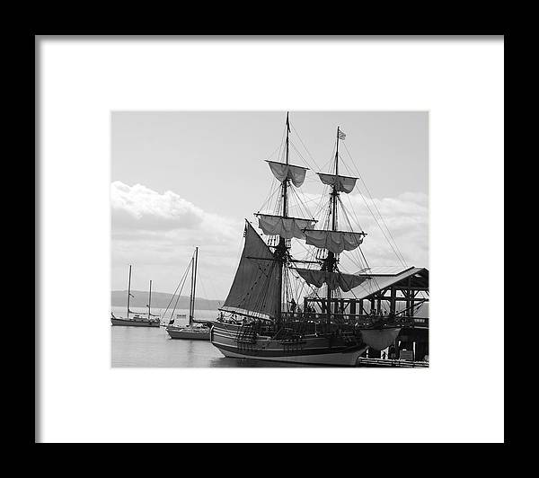 Schooner Framed Print featuring the photograph Lady Washington by Sonja Anderson
