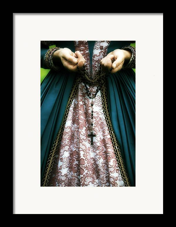 Woman Framed Print featuring the photograph Lady With Rosary by Joana Kruse
