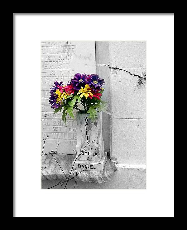 Flowers Framed Print featuring the photograph Lafayette No One Bouquet by Heather S Huston