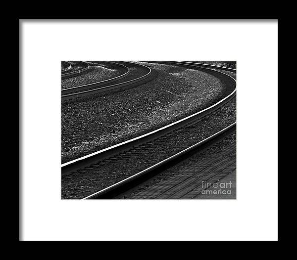 Photograph Framed Print featuring the photograph Lafayette Tracks by John Hermann