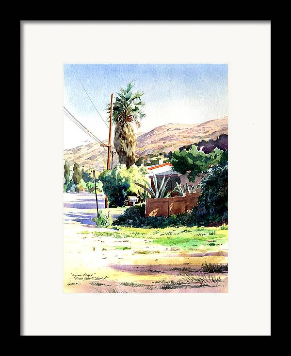 Watercolor Framed Print featuring the painting Laguna Canyon Palm by John Norman Stewart