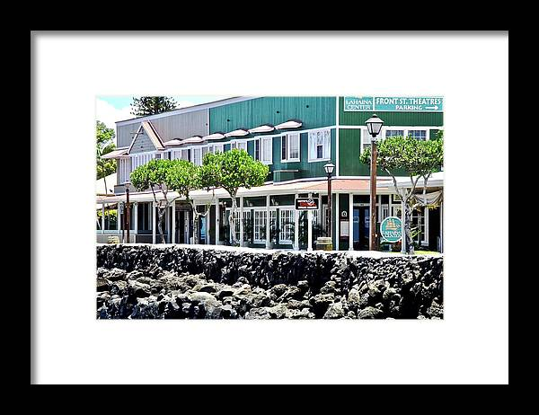 Lahaina Framed Print featuring the photograph Lahaina Center on Front Street by Kirsten Giving