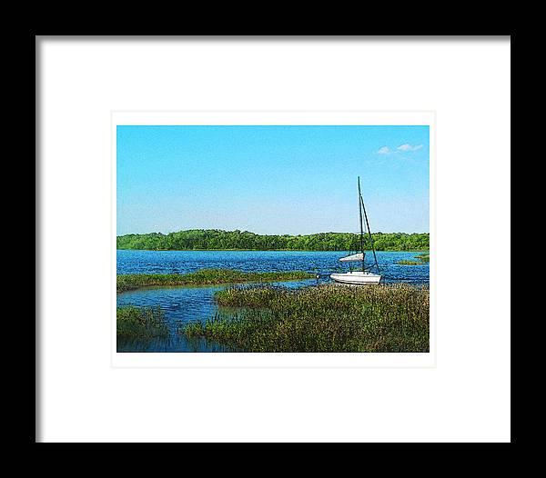 Landscape Framed Print featuring the photograph Lake At Hamony Fl by Deborah Hildinger