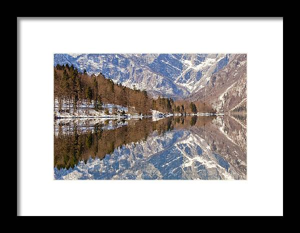 Alpine Framed Print featuring the photograph Lake Bohinj by Andre Goncalves