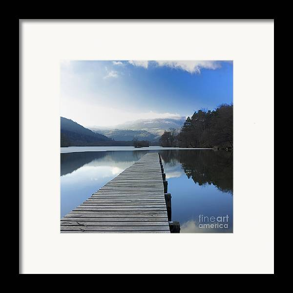 The Framed Print featuring the photograph Lake Chambon. Auvergne. France by Bernard Jaubert