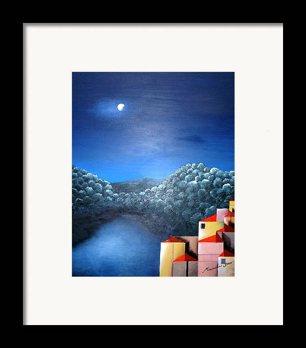 Italy Framed Print featuring the painting Lake Como by Massimiliano Stanco
