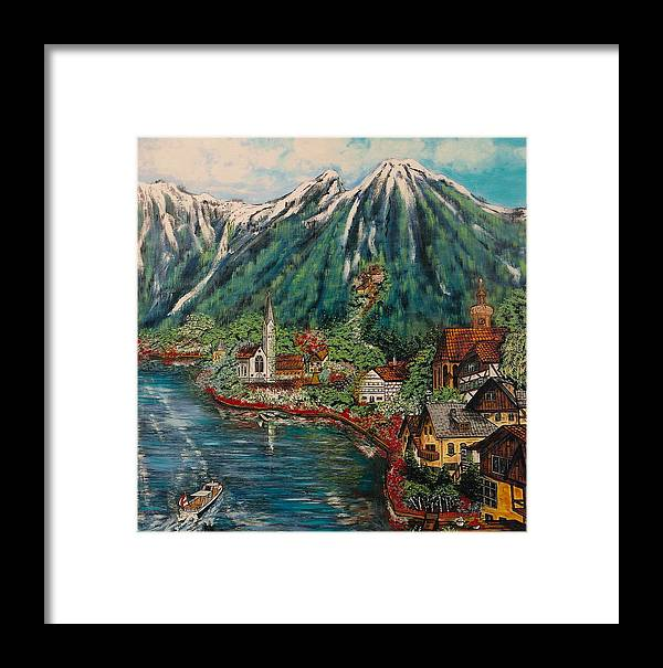 Austria Framed Print featuring the painting Lake Constance by V Boge