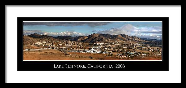 Landscape Framed Print featuring the photograph Lake Elsinore 2008 by Richard Gordon