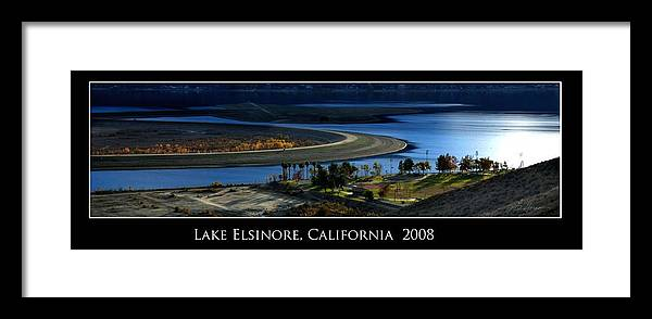 Lake Framed Print featuring the photograph Lake Elsinore Sunset by Richard Gordon
