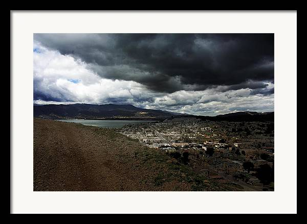 Landscape Framed Print featuring the photograph Lake Elsinore Waiting by Richard Gordon