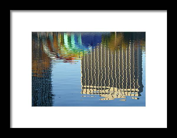 Rainbow Framed Print featuring the photograph Lake Eola Reflections by Denise Mazzocco