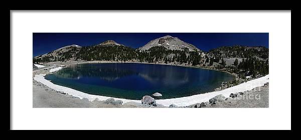 Mirror Framed Print featuring the photograph Lake Helen Lassen by Peter Piatt