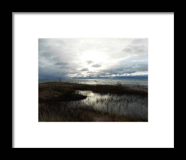 Lake Framed Print featuring the photograph Lake Huron by Belinda Olivastri