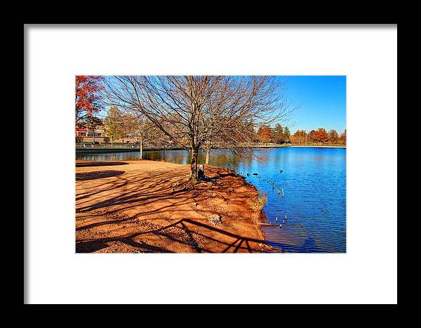 Lake Framed Print featuring the photograph Lake Island by Frank Nicolato