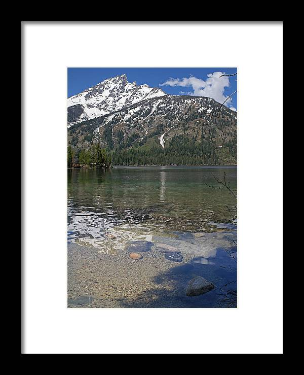 Grand Tetons Framed Print featuring the photograph Lake Jenny Grand Tetons by Heather Coen