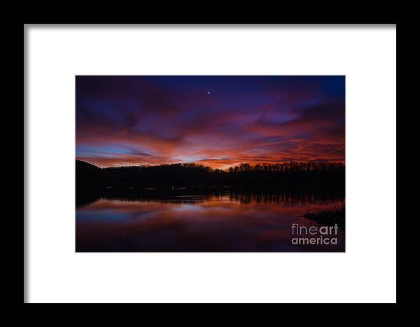 Sunset Framed Print featuring the photograph Lake Logan Sunset, Ohio by Ina Kratzsch