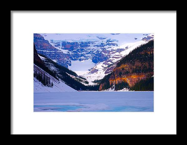 Lake Louise Framed Print featuring the photograph Lake Louise by Paul Kloschinsky