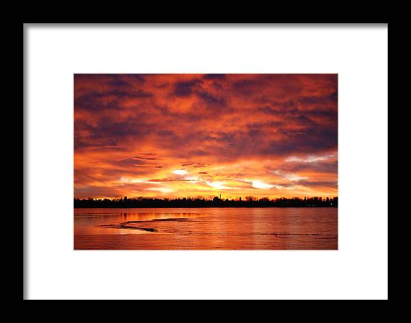 Sunrise Framed Print featuring the photograph Lake Loveland Sunrise by Billie Colson