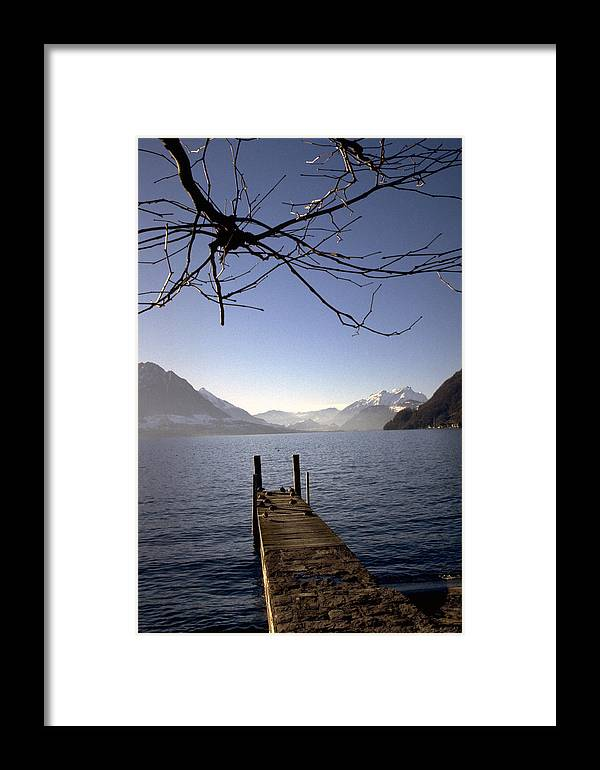 Lake Lucerne Framed Print featuring the photograph Lake Lucerne by Flavia Westerwelle