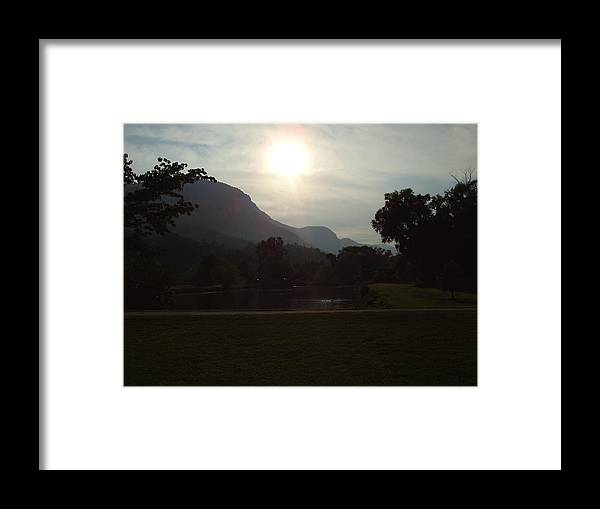 Lake Lure Framed Print featuring the photograph Lake Lure by Flavia Westerwelle