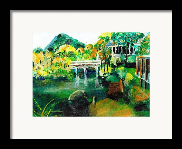 Lake Framed Print featuring the painting Lake Malibu by Randy Sprout