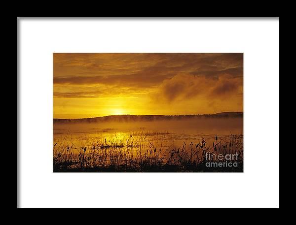 Sunrise Framed Print featuring the photograph Lake Massabesic - Auburn New Hampshire Usa by Erin Paul Donovan